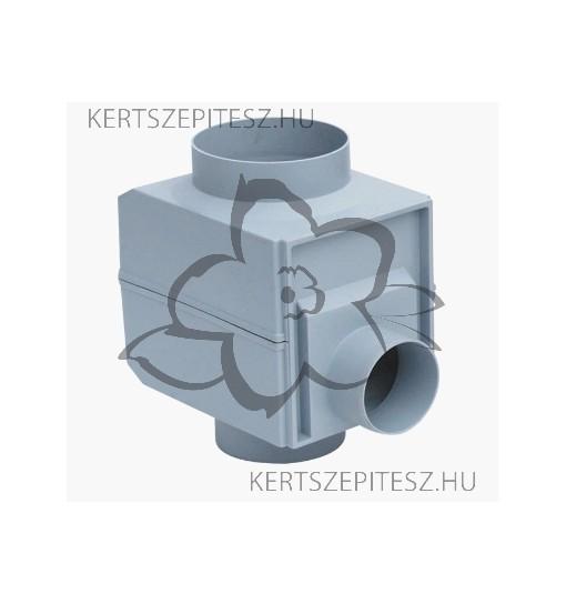 GARANTIA Ereszcsatornába illeszthető öntisztuló szűrő túlfolyás védelmi funkcióval, DN 70 szürke