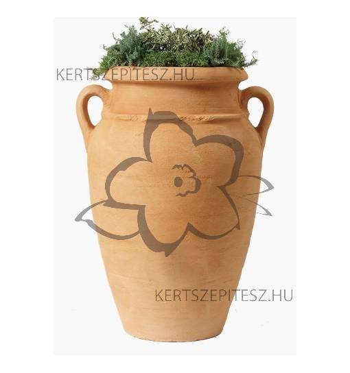 ANTIQUE virágtartó amphora homokszínű, Magasság 80 cm, Ø 59/52 cm