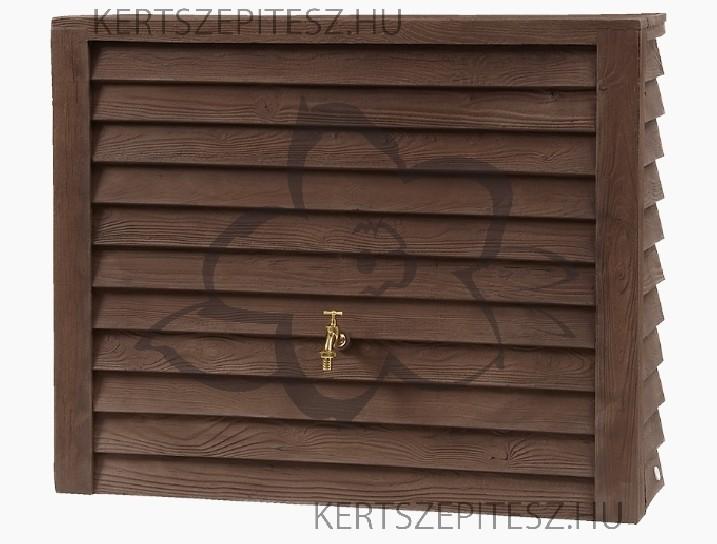 WOODY - Fali tartály 350 L - sötét faszín, 100 x 124 x 40 cm