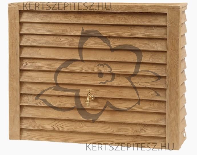 WOODY - Fali tartály 350 L - világos faszín, 100 x 124 x 40 cm